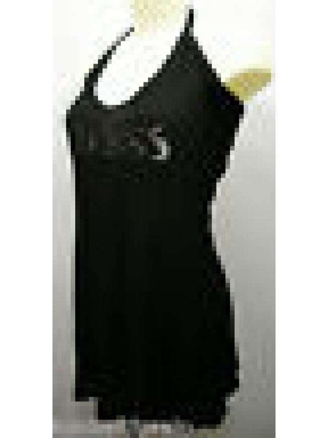 ABITO VESTITO DONNA DRESS BEACH GUESS FL3D53 JER21 T.44/L U999 NERO BLACK