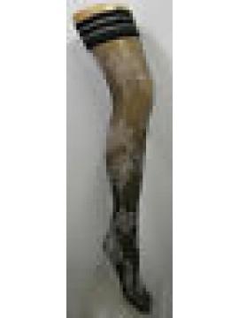 AUTOREGGENTI CALZE DONNA WOMAN LEVANTE ART.COLEMAN T.1/2 COL.NERO 30 DEN 33 DTEX