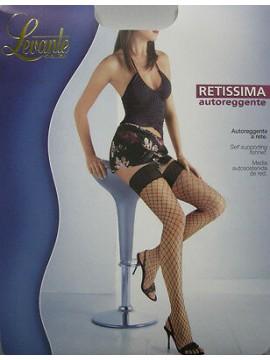 AUTOREGGENTI CALZE RETE DONNA WOMAN LEVANTE ART.RETISSIMA T.3/4 COL.NERO