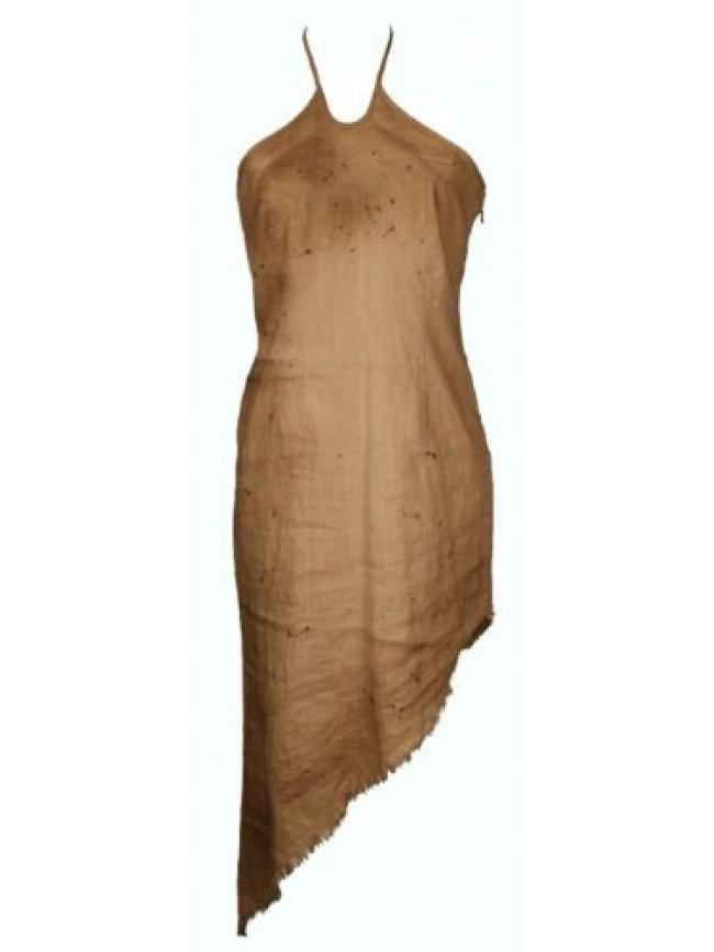 Abito donna con laccini vestito lungo in lino DOLCE E RIBELLE articolo 40137 Mad