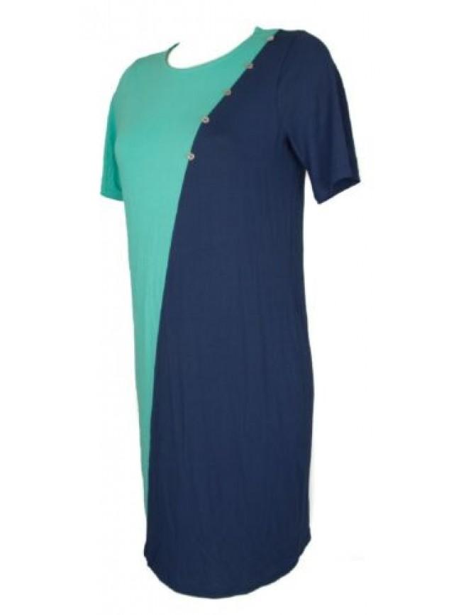 Abito manica corta in jersey di viscosa vestito donna RAGNO articolo 71323N made