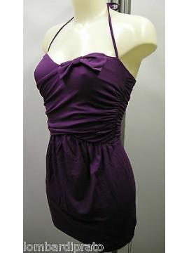 Abito mare donna beach robe EMPORIO ARMANI 262224 3P364 T.L 00191 viola purple