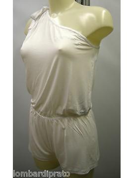 Abito tuta donna beach robe EMPORIO ARMANI a.262225 3P364 T.M col.00010 bianco