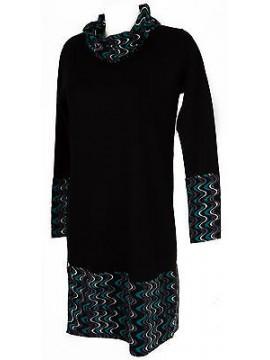 Abito vestito donna dress RAGNO art. 70348W taglia 6 / XL colore 020F NERO