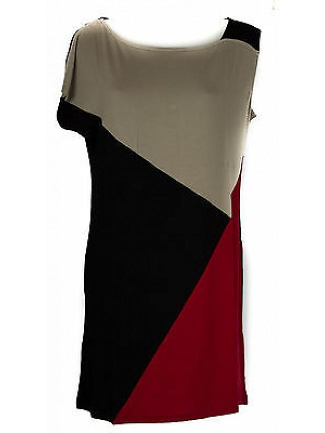 Abito vestito donna dress RAGNO articolo 70199J taglia 46 colore 640F COCCI