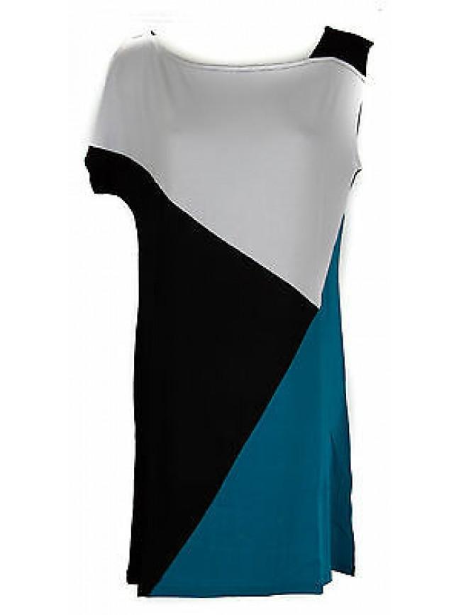 Abito vestito donna dress RAGNO articolo 70199J taglia 50 colore 001F DELFI