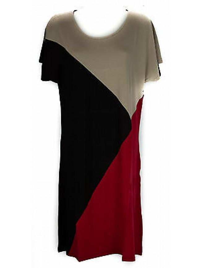 Abito vestito donna dress RAGNO articolo 70266N taglia 56 colore 640F COCCI