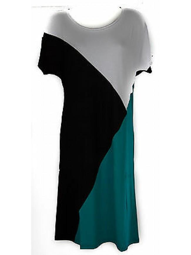 Abito vestito donna dress RAGNO articolo 70266N taglia 58 colore 648F VERDE