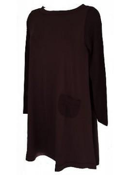 Abito vestito donna dress RAGNO articolo 70331N taglia 6 / XL colore 609 PORTO