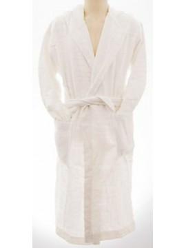 Accappatoio uomo bathrobe BIKKEMBERGS art.P784 H10 taglia M col.1100 bianco log