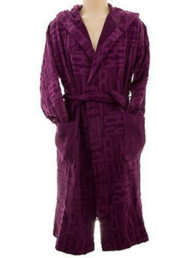 Accappatoio uomo bathrobe man BIKKEMBERGS art.P246 S11 T.L col.9100 viola log