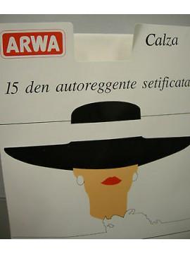 Autoreggente collant calza donna ARWA a.CAL2 T.1 col.004 bianco white 15 denari