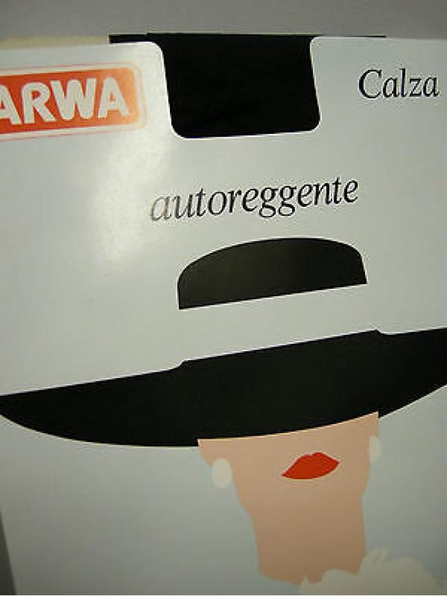 Autoreggente collant calza donna ARWA a.CAL2 T.2 col.181 blu 15 denari