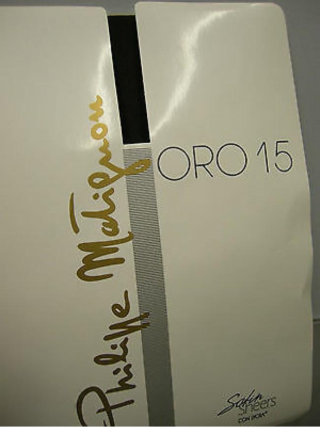 Autoreggente collant calza donna PHILIPPE MATIGNON a.ORO T.1 c.topo 15 den