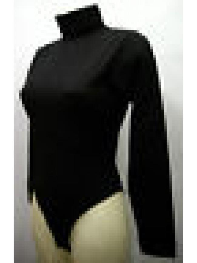 BODY BRIEFER BODYSUIT RAGNO ART.07467W T.6 XL COL.020 NERO BLACK MICROFIBRA