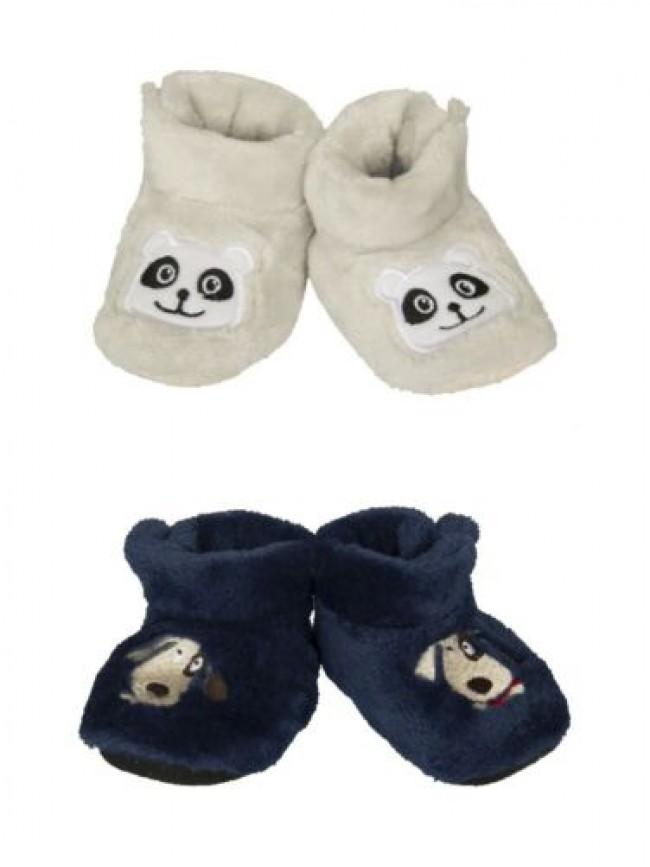 Babbucce pantofole casa baby neonato/neonata antiscivolo CIOCCA articolo 3/555A