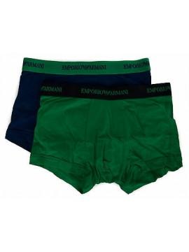 Bipack 2 boxer trunk EMPORIO ARMANI a. 111210 6P717 taglia S colore 16033 BL PR