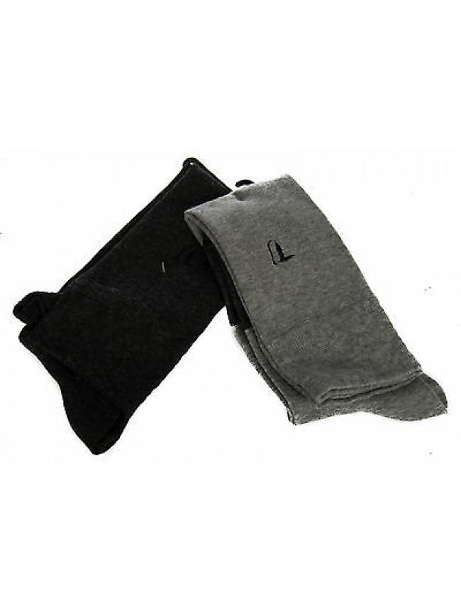 Bipack 2 calzino alto calza TRUSSARDI JEANS a. TR014S taglia III 43-46 col. 902B