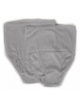 Bipack 2 slip alto mutanda donna brief ANNIC art. SOGNO taglia 6/XL col. BIANCO