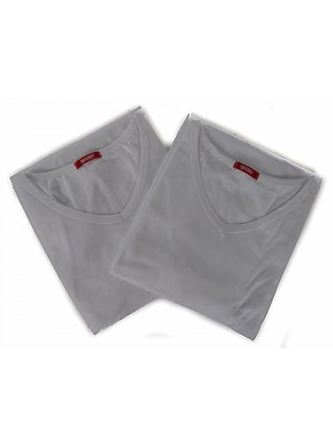 Bipack 2 t-shirt scollo V uomo underwear RAGNO 062478 taglia XXL c. 010B BIANCO