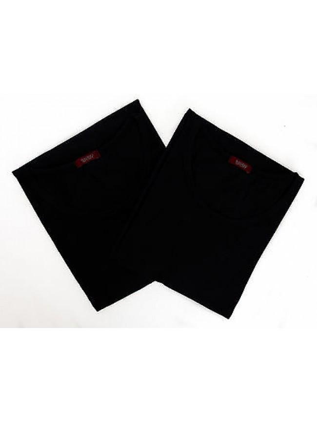 Bipack 2 t-shirt scollo giro uomo underwear RAGNO 062477 taglia XL c. 078B BLEU
