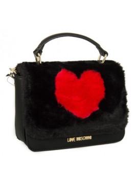Borsa borsetta donna a mano o tracolla eco pelliccia LOVE MOSCHINO articolo JC43