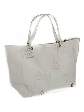 Borsa donna K-WAY a.4BKK7002 SHOPPER BAG 46x30x16 col.B9 BIANCO WHITE