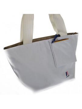 Borsa donna K-WAY art.2BKK0403 SMALL SHOULDER BAG 38x23x20 col.E6 BIANCO