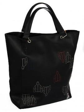 Borsa donna K-WAY art.4BKK7001 BIG SHOPPER BAG 33x40x13 col.A2 NERO BLACK