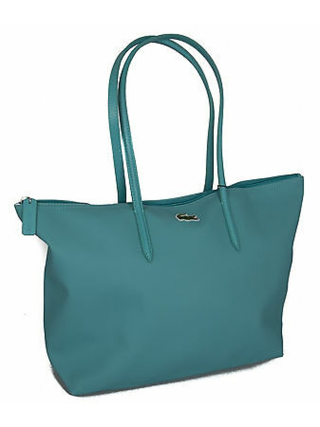 Borsa donna LACOSTE large shopping bag art.NF1344PO 48x30x14 colore 098 ACQUA