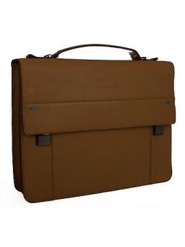 Borsa messenger cartella notebook bag PIQUADRO articolo CA3466S78 colore CUOIO