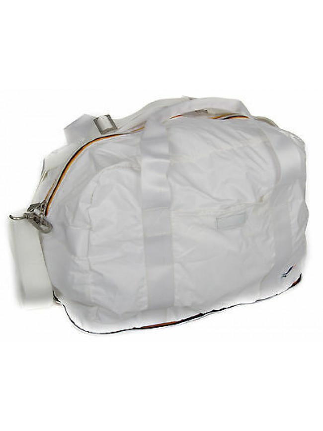 Borsone borsa richiudibile bag K-WAY a.4AKK1313 SMALL DUFFLE col.B9 WHITE