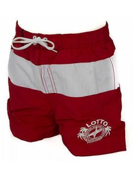 Boxer costume mare bimbo short beachwear LOTTO N7575 taglia S 9-10 c. TABASCO