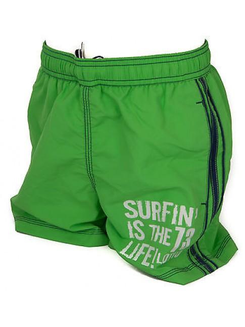 Boxer costume mare bimbo short beachwear LOTTO a. Q4276 taglia S 9-10 col. GREEN