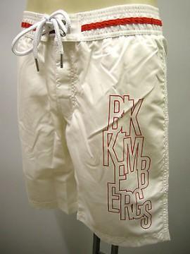 Boxer costume mare men beachwear BIKKEMBERGS a.P255 L1N T.S c.1100 bianco white