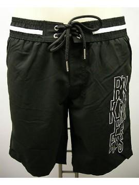 Boxer costume mare men beachwear BIKKEMBERGS a.P255 L1N T.S c.2000 nero black