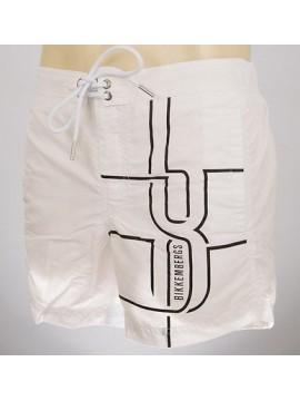 Boxer costume mare shorts beachwear BIKKEMBERGS a.P293 L19 T.L col.1100 BIANCO