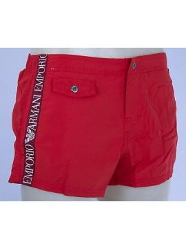 Boxer mare shorts beachwear EMPORIO ARMANI 211272 4P420 T.XXL c.05774 ROSSO