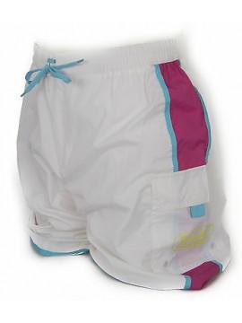 Boxer mare trunk beachwear SPALDING art. X240 taglia L col. 0001 BIANCO FUXIA