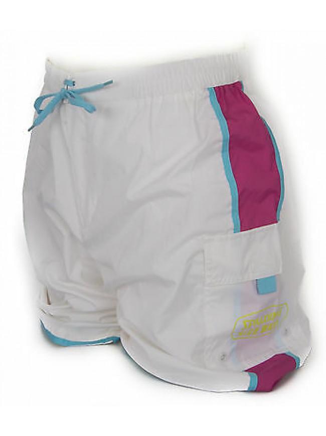 Boxer mare trunk beachwear SPALDING art. X240 taglia XL col. 0001 BIANCO FUXIA