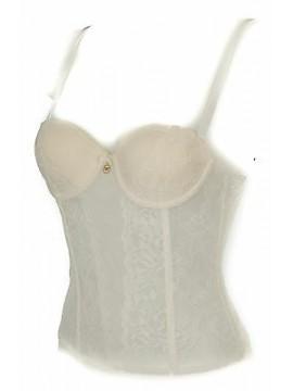 Bustino corsetto bustier EMPORIO ARMANI 163682 6P233 taglia 32/B c. 00011 PANNA