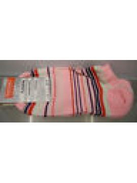 CALZA PARISCARPA DONNA SOCKS RAGNO ART.09087P T.36-40 COL.ROSA RIGHE STRIPED