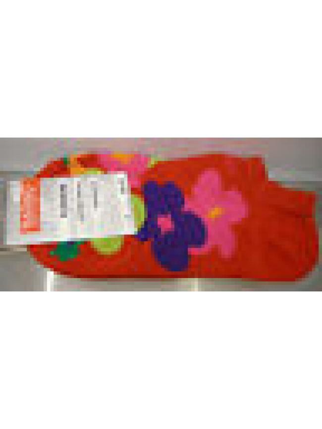 CALZA PARISCARPA DONNA SOCKS RAGNO ART.09087P T.36-40 COL.ROSSO FIORI FLOWERS
