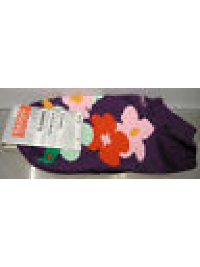 CALZA PARISCARPA DONNA SOCKS RAGNO ART.09087P T.36-40 COL.VIOLA FIORI FLOWERS