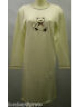 CAMICIA NOTTE DONNA NIGHTGOWN WOMAN CAMISON DOLCI CHICCHE 8431 T.46 PANNA BEAR