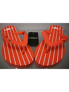 CIABATTA INFRADITO SLIPPER SHOES EMPORIO ARMANI 261516 2P339 T.39 01274 RUBY RED