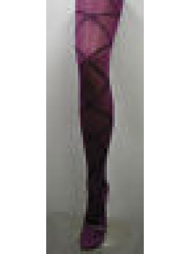 COLLANT CALZA DONNA WOMAN LEVANTE ART.E014 T.3/4 COL.PRUGNA - 40 DEN 44 DTEX