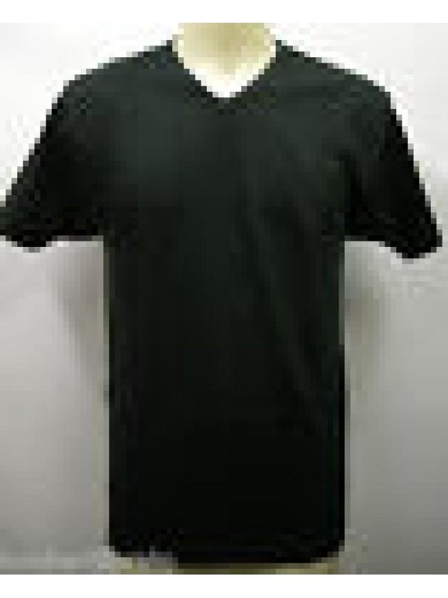CONFEZIONE 2 T-SHIRT BIPACK SCOLLO V MAGLIETTA UOMO RAGNO 063978 T.M NERO BLACK