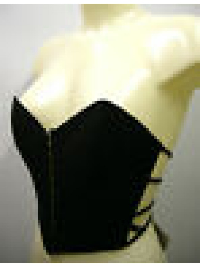 CORPETTO VEST CHALECO REGGISENO BRA PARAH H880 T.3 C.0148 NERO BLACK SEXY ITALY