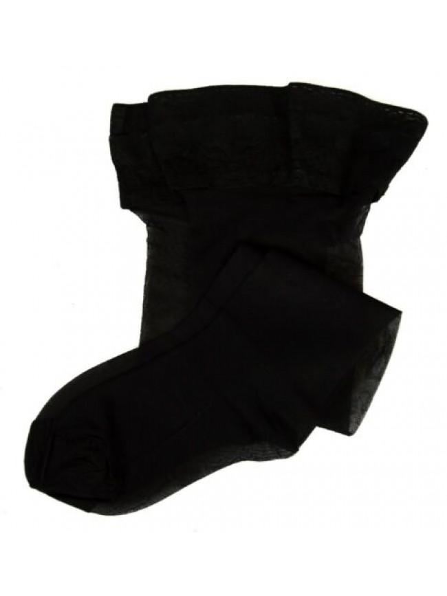 Calza autoreggente calze donna 15 den 17 dtex setificata opaca balza pizzo LEVAN